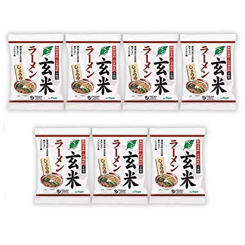 オーサワ ベジ玄米ラーメン しょうゆ 112g(うち麺80g)×7個        JANコード:932828066851