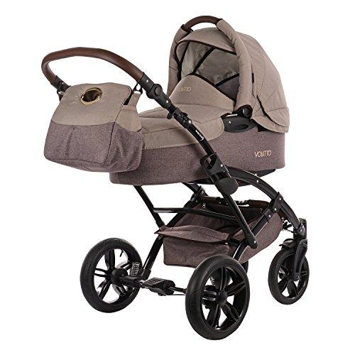 Knorr-Baby 3200-05 Kombikinderwagen Voletto Happy Colour, beige-braun