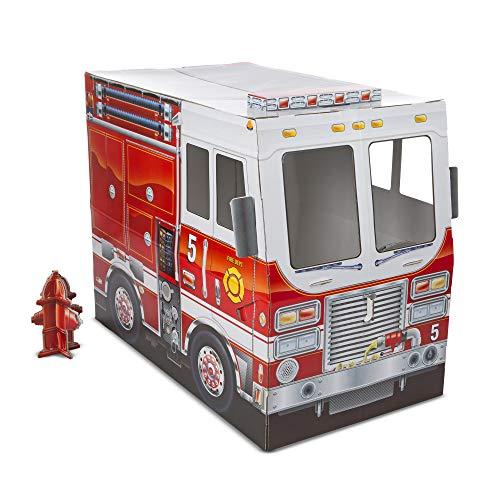 Melissa & Doug Camión de Bomberos de Cartón Corrugado Para Interiores (122 cm x 99 cm)