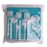 Reiseflaschenset mit transparenter Reise-Tasche mit 6 PET-Behältern und Spatel fürs...