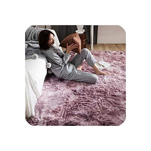 Motley Plush Carpets for Living Room Soft Fluffy Rug Home Decor Shaggy Carpet Bedroom Sofa Coffee Table Floor Mat Cloakroom Rugs,Motley Pink Purple,200x200cm,China