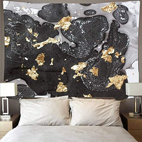 KHKJ Hermosa Textura de mármol Tapiz Gran Arte Hombre Tapiz psicodélico Colgante de Pared Toalla de Playa Manta Fina A1 200x180cm