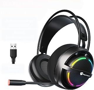 Fone de ouvido para jogos com fio YOOXI, 7.1 Som ambiente, conector USB, cores RGB, compatível com PS4, Xbox One/360, PS3,...