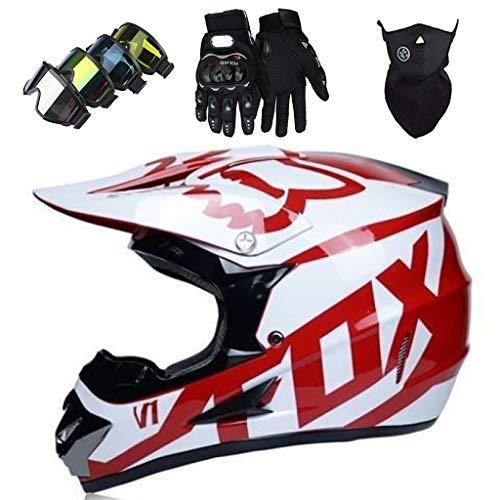 Casco Motocross Niño, ECE & DOT Certificación Set de Cascos de Cross...