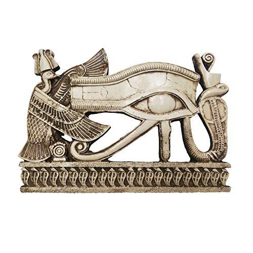 Ojo de Horus Amuleto Protector, Mide 28 cm de Ancho y 19 cm Alto Aprox. Apta para Colgar.