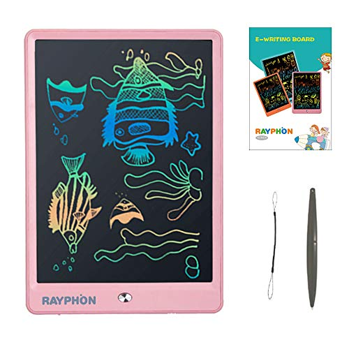 ZBHANTANG LCD Writing Tablet 10 Inch Drawing Board Doodle Board with Colorful Screen, Writing Board Electronic Doodle Pads Learning Tablet for Kids and Adults (Pink)