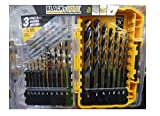 DEWALT Black Oxide Drill Bit Set, 20-Piece (DW1177) (Black & Gold)
