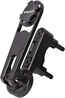 Rokform - Universal Motorcycle Cell Phone Perch Mount, Clutch Perch Phone Mount Fits Most Harley`s, Secures Phone Via Quad Tab Twist Lock Mount and Built-In Magnet Mount (Black)
