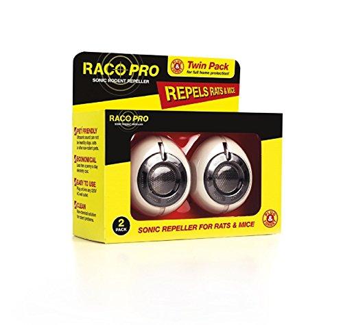 RACO Pro Sonic Répulsif pour Les Rats et Souris, Lot de 2