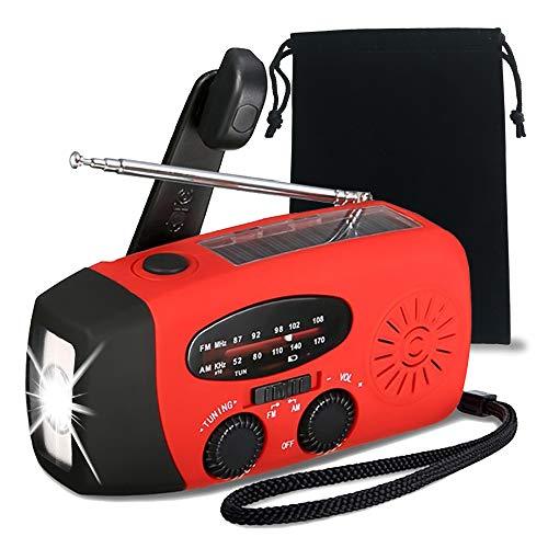 緊急用ラジオ 懐中電灯 防災ソーラーラジオ 手回しラジオソーラー AM/FM携帯 ZealBea Focus防災ラジオ ラジオライト USBケーブル充電 ソーラー充電 手回し充電 3つ給電式ラジオ 携帯充電器iPhone スマホ充電対応可能 1000mAH