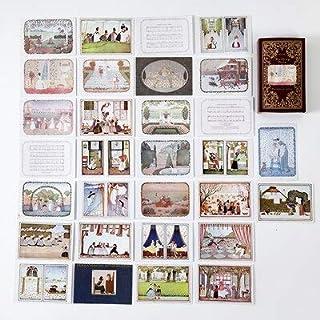 Assorted Stickers - Fairy & Elf Matchbox Diary Stickers Retro Stamps Scrapbooking Korean Cute Sticker Label 60pcs/box (1)