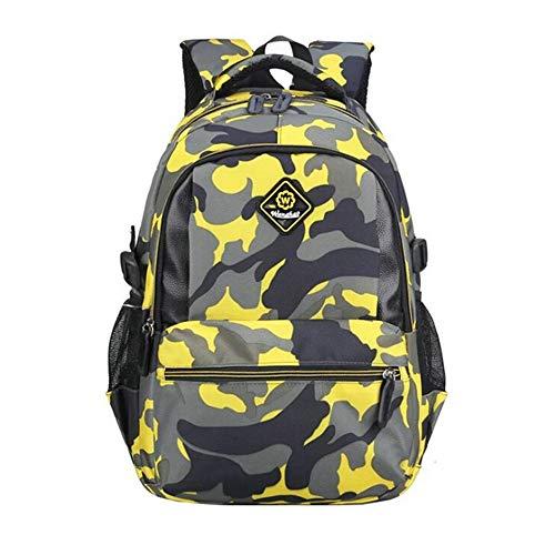MITOWERMI Kids Backpacks for Boys Girls Elementary School Bags Bookbags Casual Green Camouflage Schoolbag Rucksack Lightweight