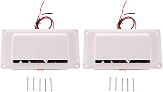 Perfk 2PCS Inner Side Exhaust Fan Vent 12V for Caravan Camper Trailer RV Parts Accessories - White