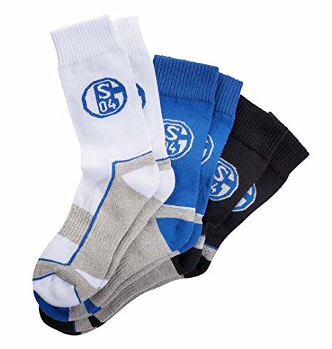 FC Schalke 04 Sport Socke 3er Pack Gr. 35-38
