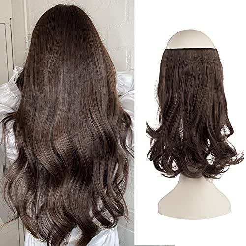 FESHFEN Secrets Hair Extensions, 36 cm Lange Gewellt Haarverlängerungen Invisible Secret Extensions Synthetik Haare Unsichtbarem Extension 1 Tresse Haarteile