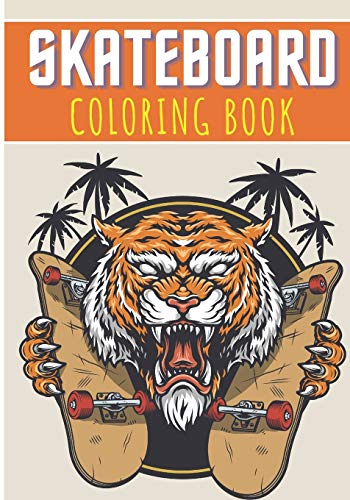 Skateboard Coloring Book: For Kids and Toddlers | 30 Unique Pages to Color on Skateboards, Skateboarding Art, Skate Designs, Longboard and Cruiser ... Activity | Creative and Relaxation at home.