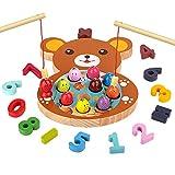 🐠GIOCO DI PESCA IN LEGNO : Questo giochi in montessori legno pesca per bambini contiene dieci pesci di diversi colori, 10 numeri da 0 a 9, simboli di calcolo matematico (un segno più, un segno meno, un segno di uguale), due canne da pesca, una piccol...