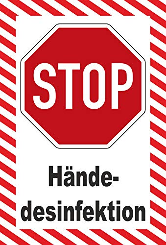 MK-Schilder Aufkleber 45x30cm Hände-desinfektion