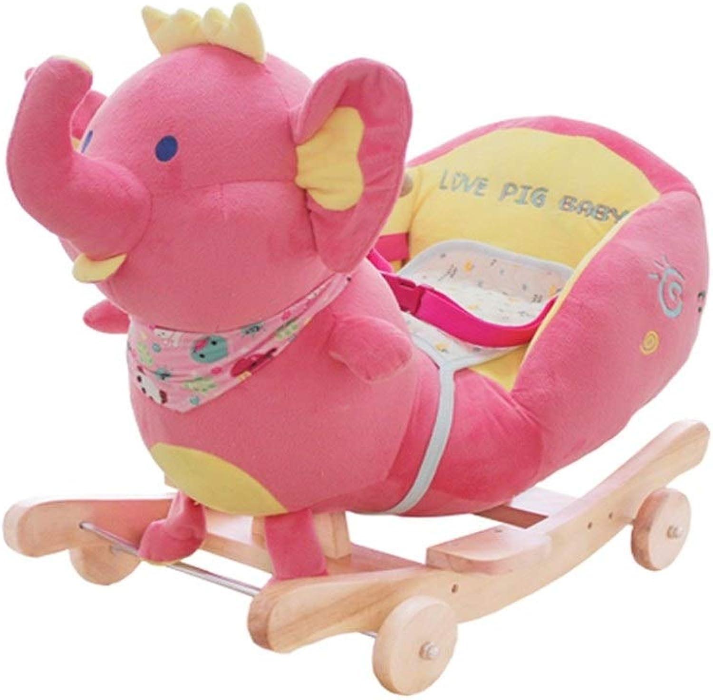 buena calidad LIULAOHAN Caballo de de de oscilación del bebé, Rocking Horse Baby Educación Temprana Juguete Música Niños Silla Mecedora Bebé Rocking Horse Regalo 60  28  45 cm (Color    3)  ventas de salida