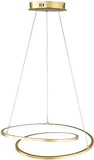 WOFI lámpara colgante Integriert, 8.3 W, Dorado, 48.5 x 48.5 x 1500 cm