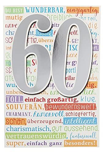 Depesche 5698.079 Glückwunsch-Karte mit Musik zum 60. Geburtstag, originelle Geburtstagskarte mit passendem Spruch und Innentext, inkl. Umschlag, 17,5 x 12 cm