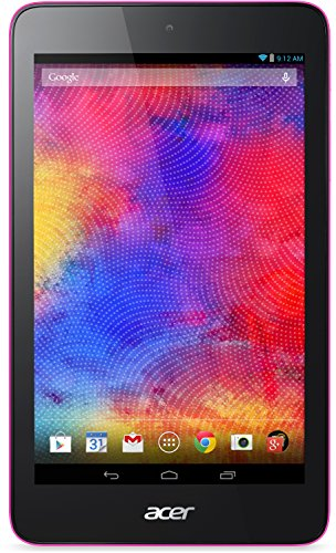 Acer Iconia One 7 (B1-750 HD) 17,8 cm (7 Zoll) HD IPS Tablet-PC (Intel Atom Z3735G, 1,3GHz, 1 GB RAM, 16 GB eMMC, Android KitKat 4.4) Pink