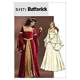 Butterick Patterns B4571EE 14–16–18–20Patron de Costume, Lot de 1, Blanc
