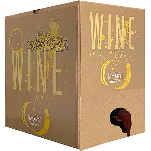 Bag In Box | 5 Litri Fiano Safis | Vino Bianco della Campania | Cantina Firosa | Valigetta Cartone Salvaspazio