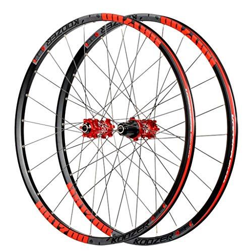 TYXTYX Bicycle Wheelset for MTB 26'/27.5 in Mountain Bik Wheel Double Wall Rim Ultra-Light 1620g Disc Brake 8-11S Cassette Hub Sealed Bearing QR