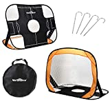 WIn SPORTS 2 in 1 Pop Up Kids Soccer Goal, Foldable Portable Football Goal,Children's Soccer Net-Indoor - Outdoor Sports & Training,Shooting Practice for Backyard Play (44, 32)