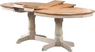 """Iconic Furniture Oval Dining Table, 42"""" x 90"""", Caramel Biscotti Finish"""