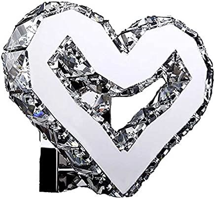 YJH+ ハート型クリスタルウォールランプ、クリエイティブLedベッドルームのベッドサイドランプK9レベルクリスタル照明マリールーム装飾ランプリビングルームレストラン白いライトウォームライト22 * 16 * 8センチメートル 美しく、寛大な ( 色 : 白色光 )