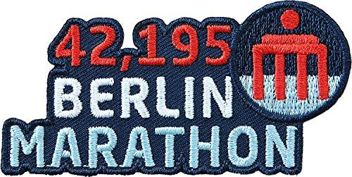 2 x Berlin Marathon Abzeichen gestickt / 42.195 Marathonlauf Lauftraining Läufer Brandenburger Tor / Aufnäher Aufbügler Sticker Patch / Training Joggen Jogging Running Fitness Ernährung Laufbuch Buch