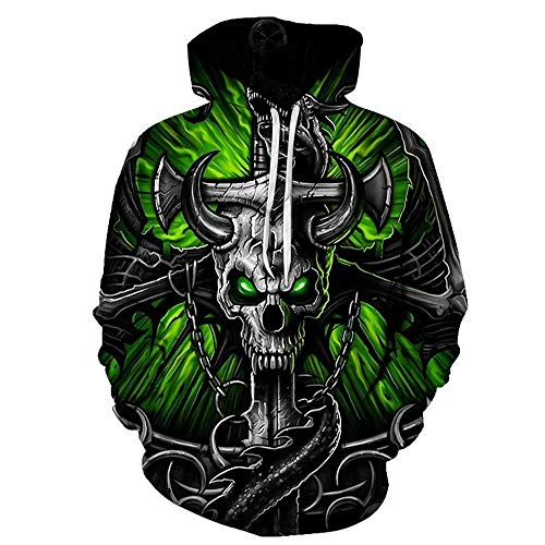 yyqx container Pulls à Capuche d'impression 3D Cross and Skull Outdoor Couples Sweatshirts with Kangaroo Pocket-Color_3XL