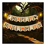 LYYJIAJU Banner de Puerta de Halloween 3 Piezas Set de decoración de Fiesta de Halloween Feliz Halloween Banner Spider Ghost Imprima para la decoración de la Fiesta de Halloween