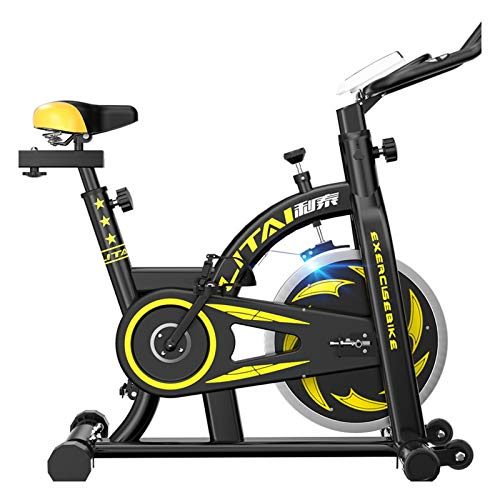 WJFXJQ Bicicleta de Ejercicios, Bicicleta de Ciclismo Interior, Bicicleta estacionaria Resistencia magnética Susurro for el Entrenamiento de Cardio en casa, cómodo cojín de Asiento y Pantalla LCD
