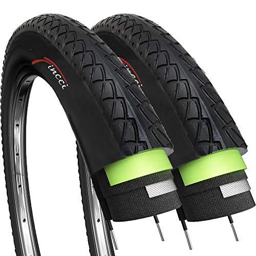 Par de Fincci Slick por Carretera de Montaña Bicicleta Híbrida Neumático Para Cubiertas Lisas Ciclismo 26 x 1,95 54-559