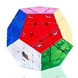 TOYESS Megaminx Cube 3x3 Stickerless, Dodecaedro Cubo Mágico, Paquete de Regalo de Juguete de Rompecabezas