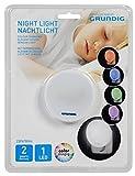 Grundig LED Nachtlicht - mit farbewechsel, Plastik, weiß, 7 x 7 x 4.8 cm