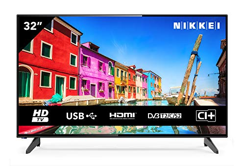 NIKKEI NH3214 - TV da 81 cm, 32 pollici (Hd Ready, 1366 x 768, 1 SCART, 3 HDMI, 2 USB)
