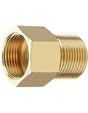 Stone Banks Messing Hogedrukreiniger Koppeling, Metrisch M22 15mm Mannelijk naar M22 14 / 15 mm Binnendraad Connector Binnendraad Slang Pijp Adapter