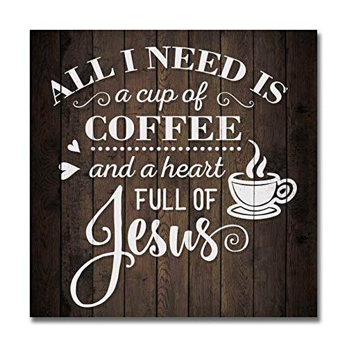 Coffee And Jesus Sign Christian Wood Dec Buy Online In China At Desertcart