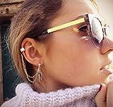 Deniferymakeup Gold Silber Einfache Blatt-Ohrringe...