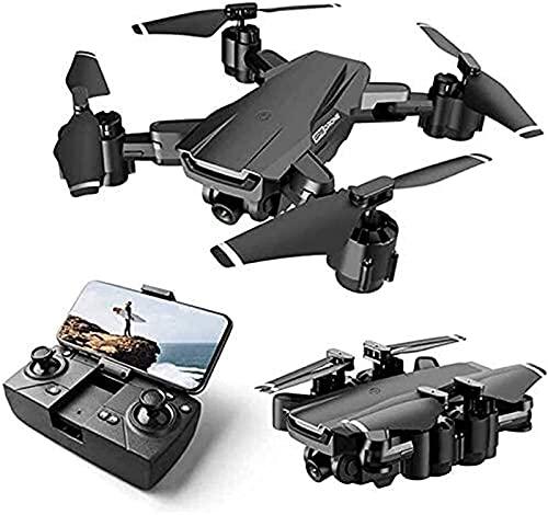 rzoizwko Drone, Drone GPS WiFi FPV, Drone con cámara, para Adultos, 2 Ejes ESC PTZ 4K HD, Drone para niños Niños, para Principiantes Drone Plegable RC Quadcopter