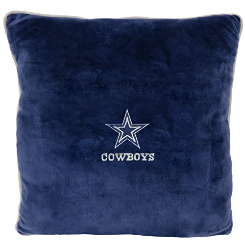 NFL Couch Throw Pillow - Dallas Cowboys Soft & Cozy Plush Pillow. Smooth Plush & Comfortable Home Sofa Couch Bed Mattress Pillow Licensed by The NFL