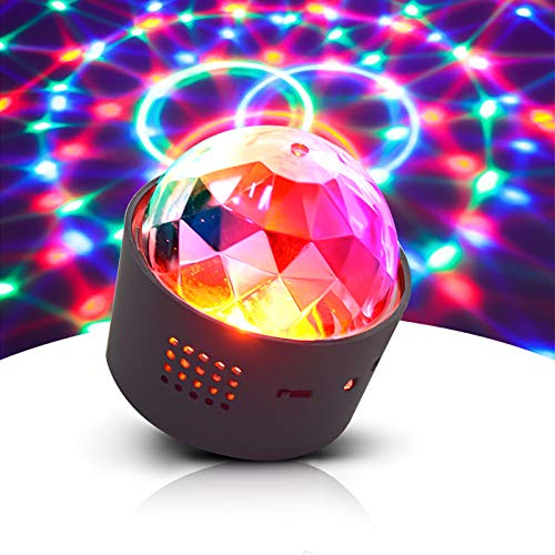 Opard Discokugel, LED Lichteffekt Mini DJ Balls Licht 3W LED RGB Sound Control USB Charge Magnet Adsorption Portable Bühnenbeleuchtung für Party Home Car KTV Bar Bühnenfeier