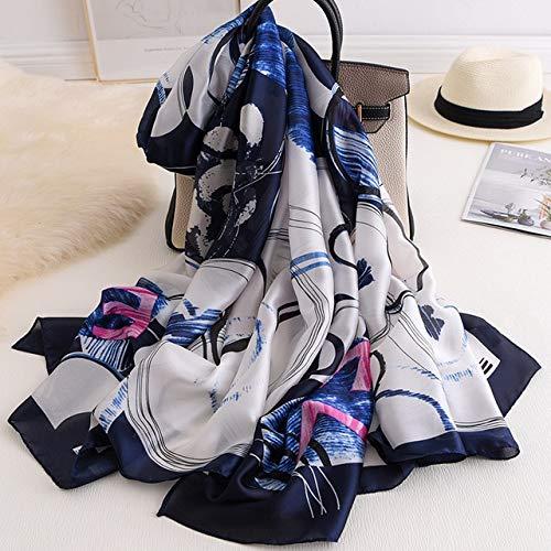 YYHAOGE Bufanda De Seda para Mujer, Chales De Playa con Estampado De Lujo,Abrigos para Mujer,Bufandas Hijab, Accesorios De ModaV20-3