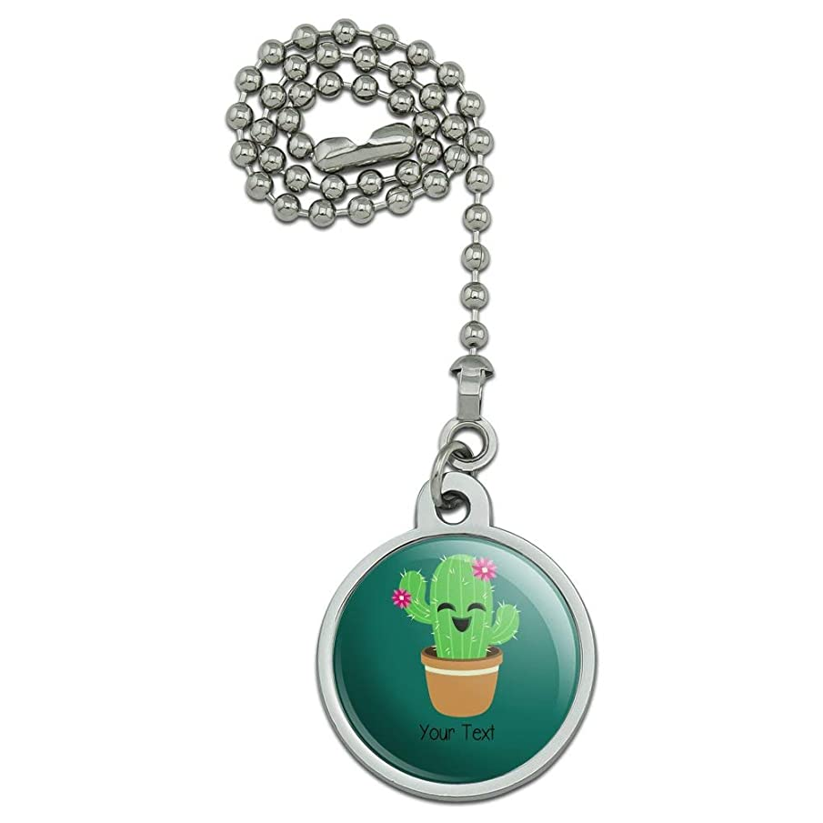 GRAPHICS & MORE Personalized Custom Cute Cactus in Pot 1 Line Ceiling Fan and Light Pull Chain