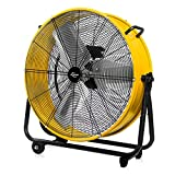 JPOWER 24 Inch High Velocity Air Movement Heavy Duty Metal Drum Fan 3 Speed Air Circulation for Industrial,...