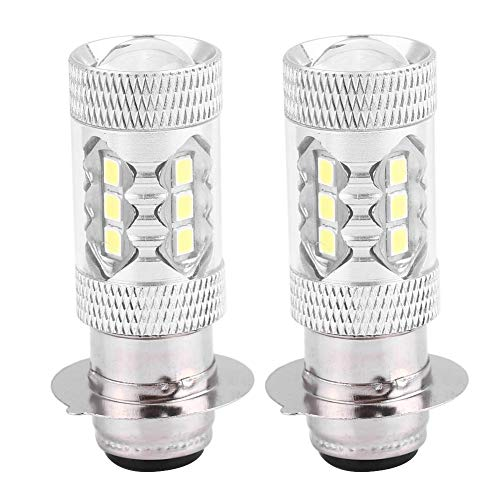 Motorfiets koplamp scooter peer, 2 stuks motorfiets 80W Super Bright Conversie aluminium LED koplamp gloeilamp motorfiets scooter koplamp (wit licht)